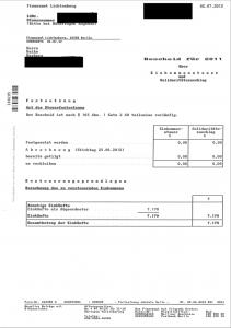 Mein Steuerbescheid 2012 Heiko Herberg